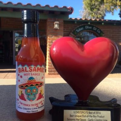 """Desert Heat"" Balsamic Vinegar Hot Sauce. ""The Sauce To Die For"", 5 oz bottles."